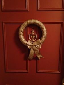 DIY Gold Ribbon Wreath