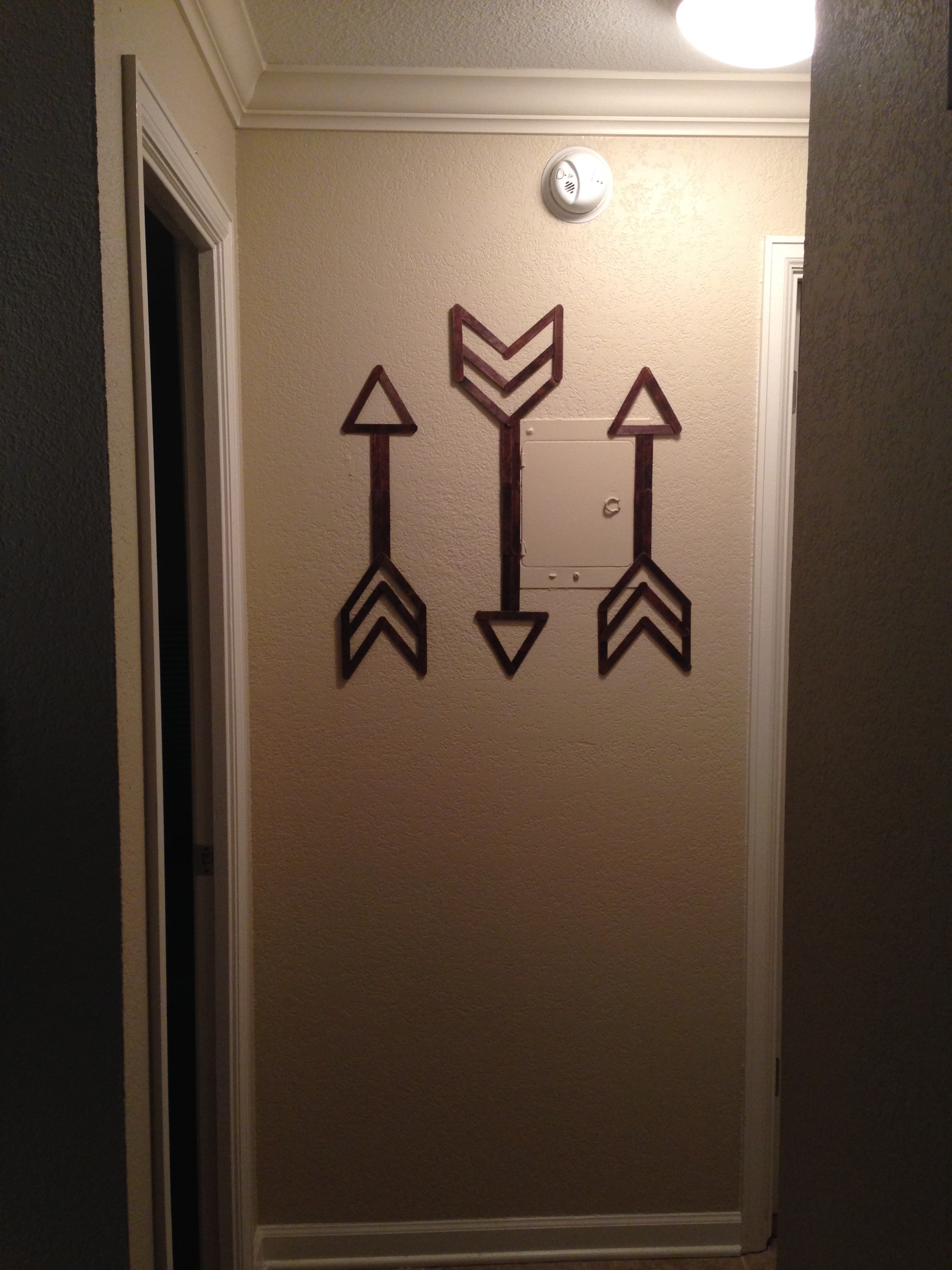 Wall Art And Decor For Living Room: Popsicle Stick Wall Art