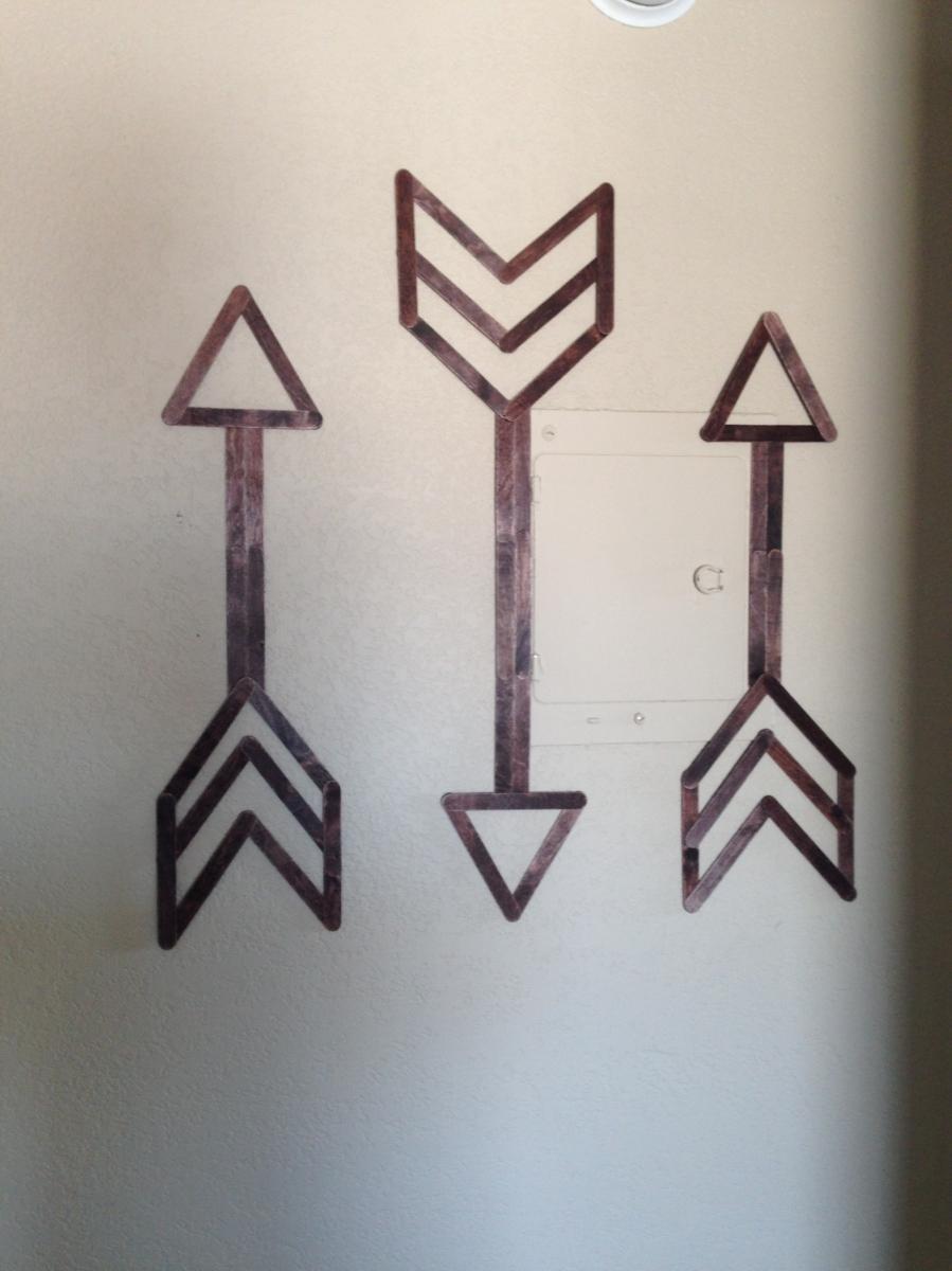 popsicle stick wall art festoon and frill. Black Bedroom Furniture Sets. Home Design Ideas