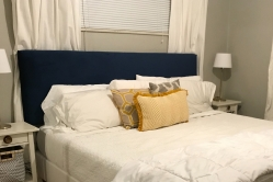 Easy, inexpensive velvet king sized headboard